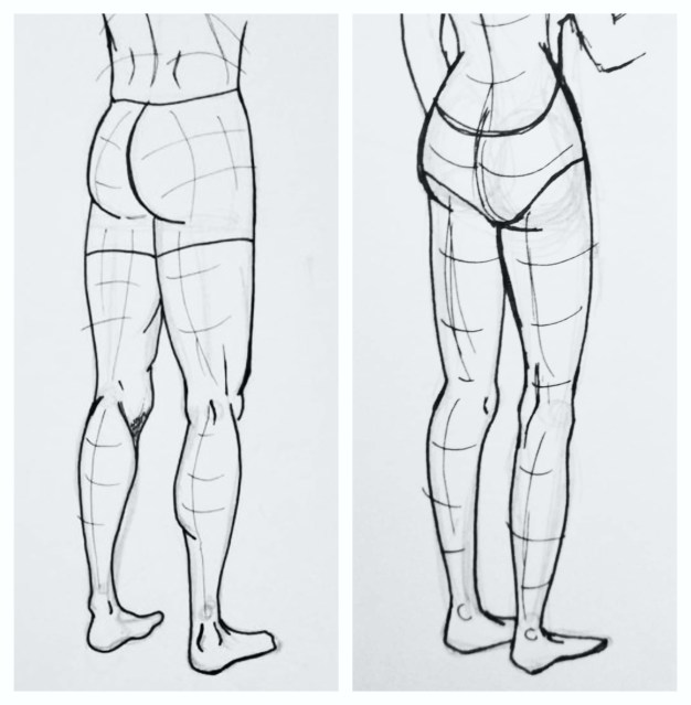 How to Draw Male and Female Legs