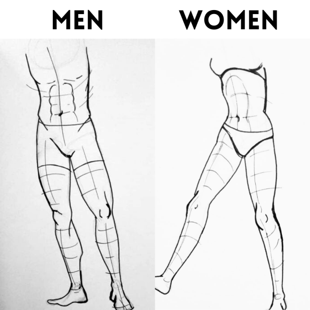 Male and Female Legs