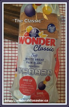 Loaf of classic white Wonder Bread