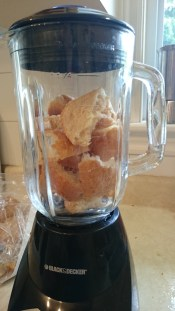 Making bread crumbs in the blender