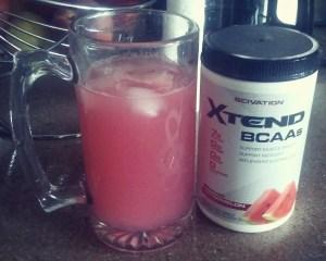Xtend Bcaa's, muscle recovery, Watermelon Lemonade