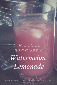 Watermelon Lemonade: Muscle Recovery formula