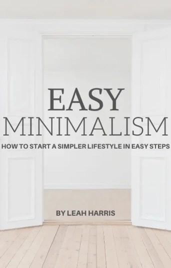 Easy Minimalism, minimalist cleaning ebook