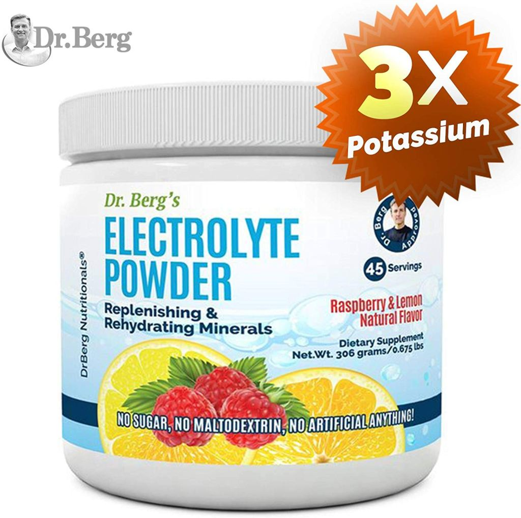 Electrolyte powder for high blood pressure