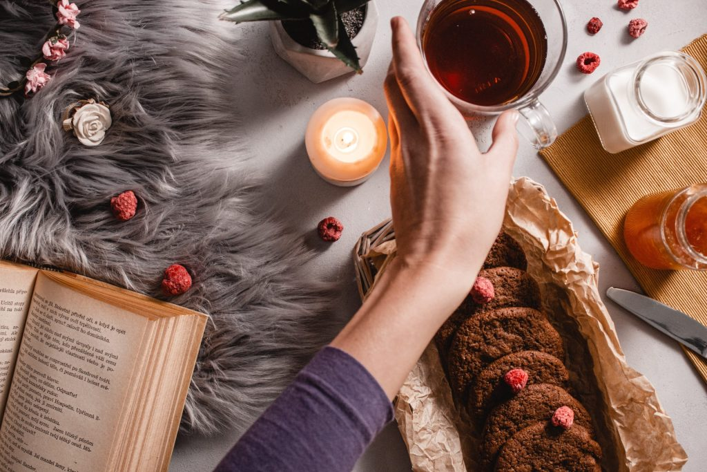 tea and cookies, hygge for spring