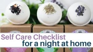 self care checklist ideas