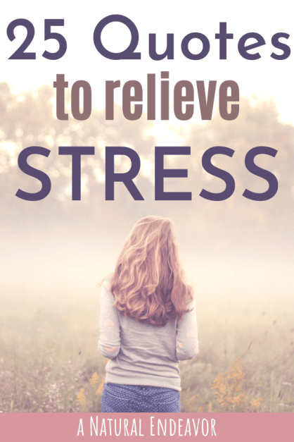 Quotes to relieve stress
