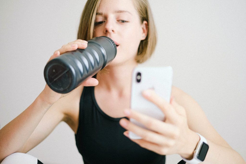 at home fitness woman
