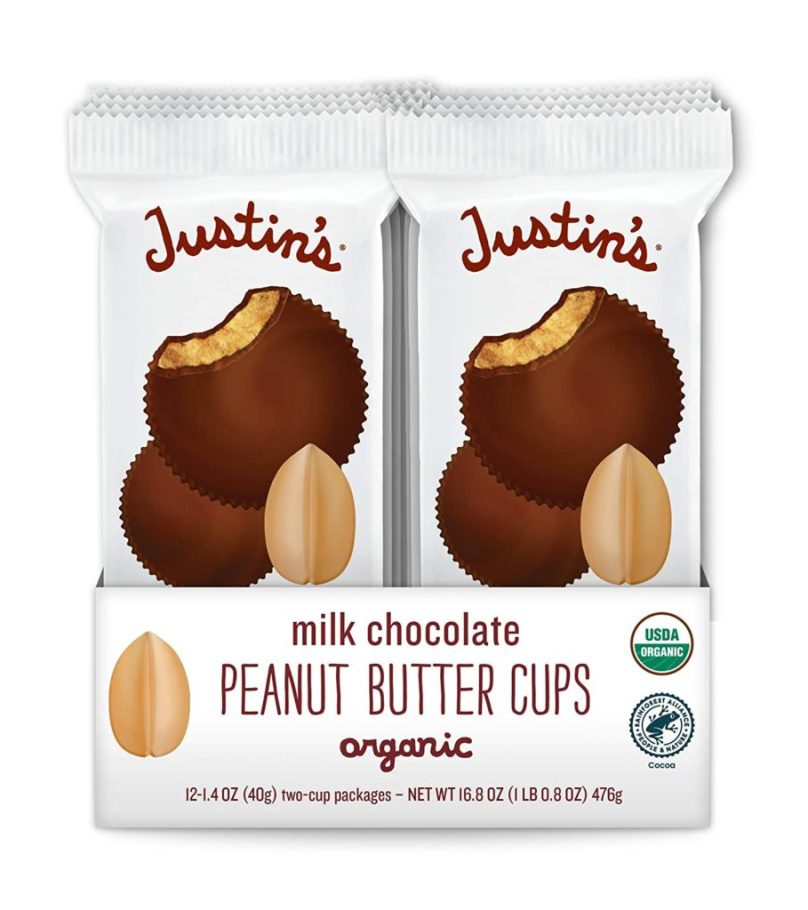 Justin's Peanut Butter Cups, Healthy Halloween Candy Alternatives
