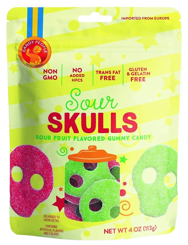 Gummy People candy skulls for a healthier Halloween Candy Alternative