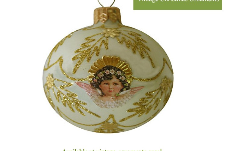 Decorating with Vintage Christmas Ornaments