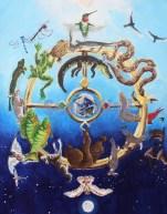 Cycles - fauna; acrylic on canvas; 11 x 14