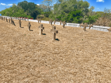 | prisoner's grave yard. no names, just numbers |