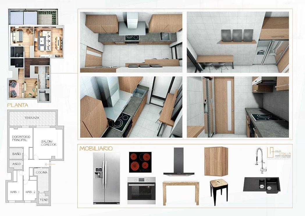 Proyecto de interiorismo decoración de vivienda en Madrid por Ana Utrilla