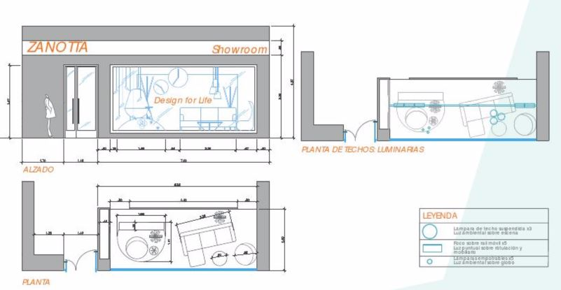 Planos de escaparate diseño de Ana Utrilla