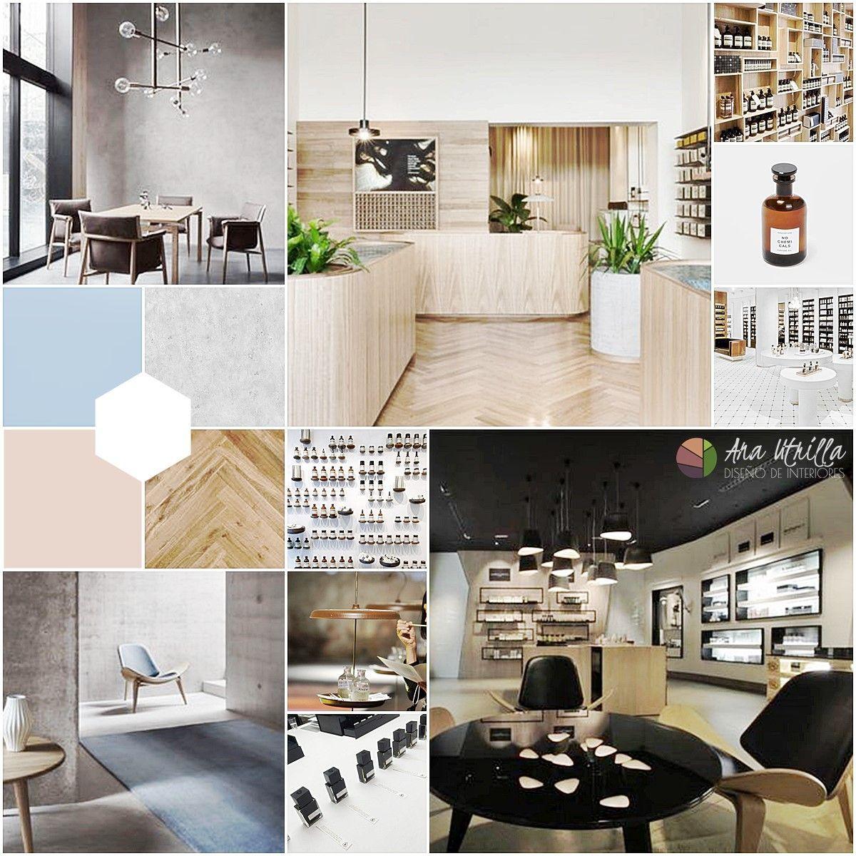 moodboard ideas previas de estilo, mobiliario, texturas, materiales por Ana Utrilla
