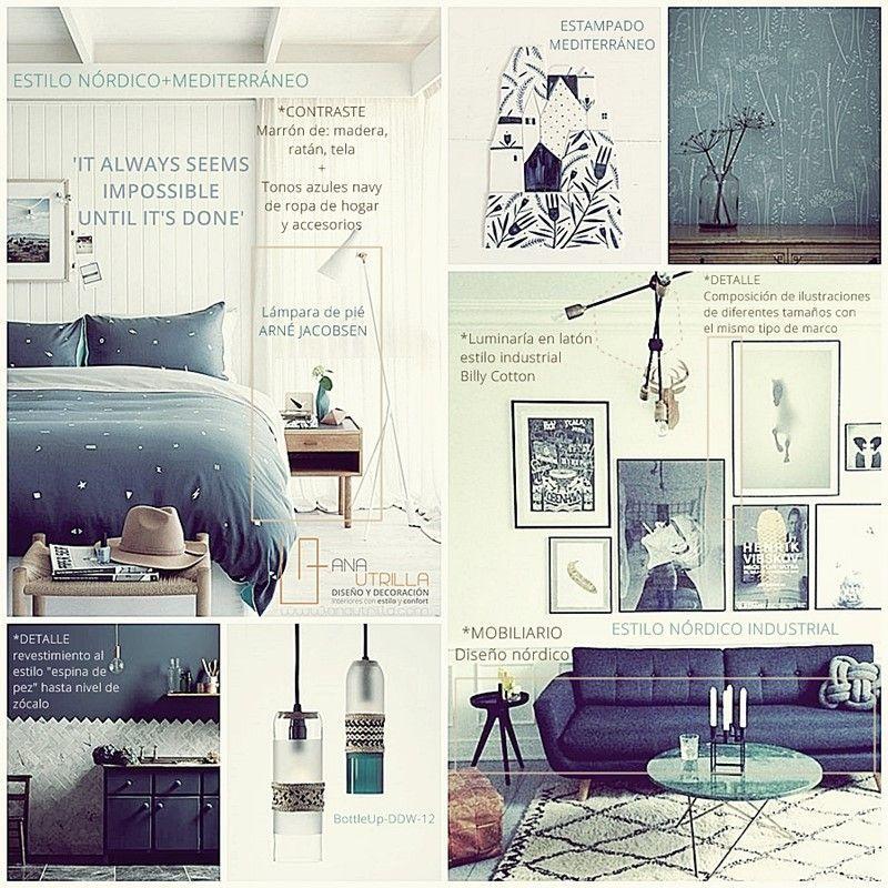 Decoración de interiores en estilo nórdico y azul petróleo por Ana Utrilla