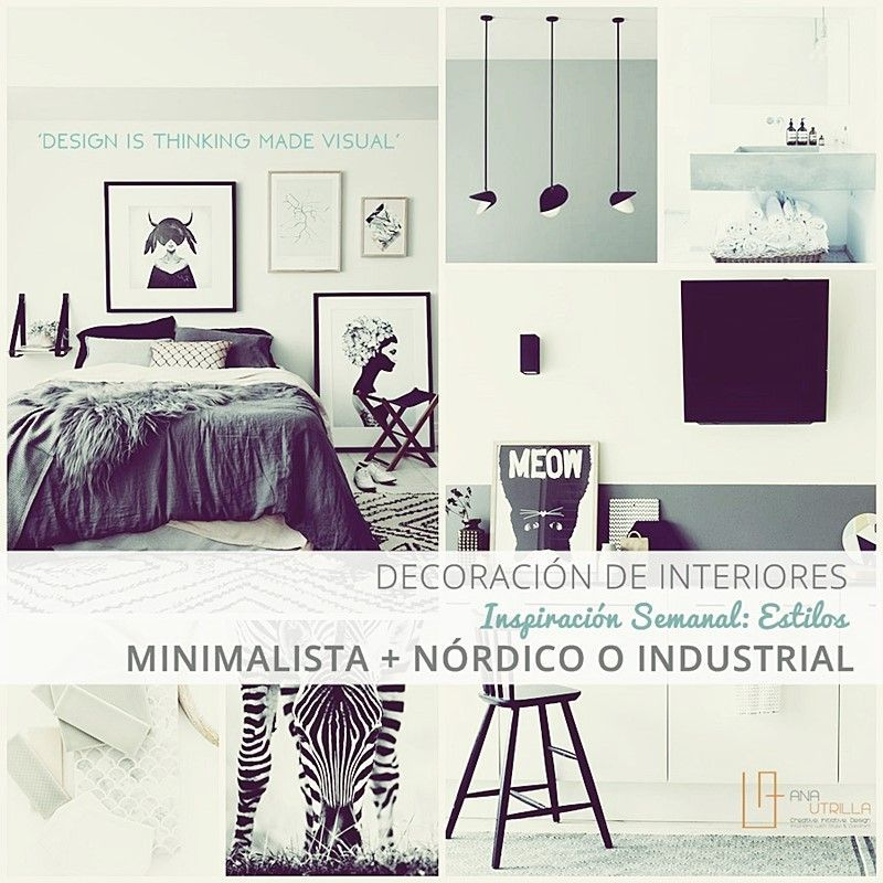 Decoración de interiores con estilos nórdico o industrial