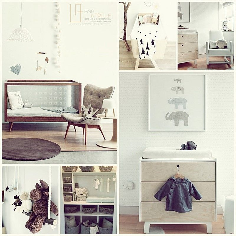 Mobiliario imprescindible para la habitación de un bebé en diseño de interiores