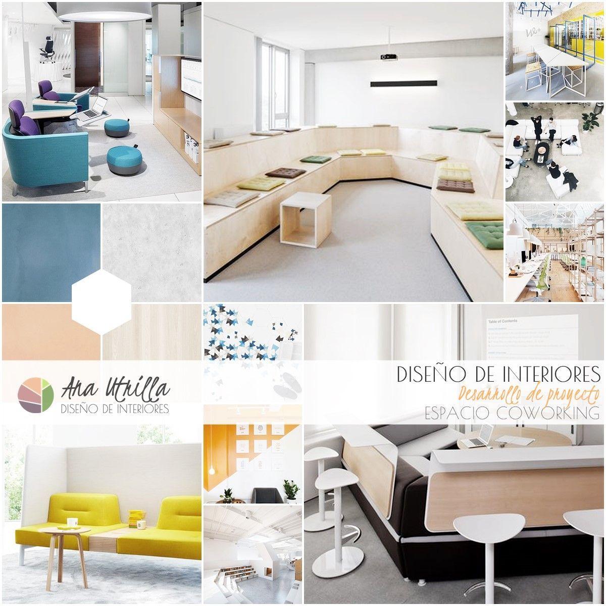 diseño de interiores espacio coworking de estilo nórdico por Ana Utrilla Interiorismo