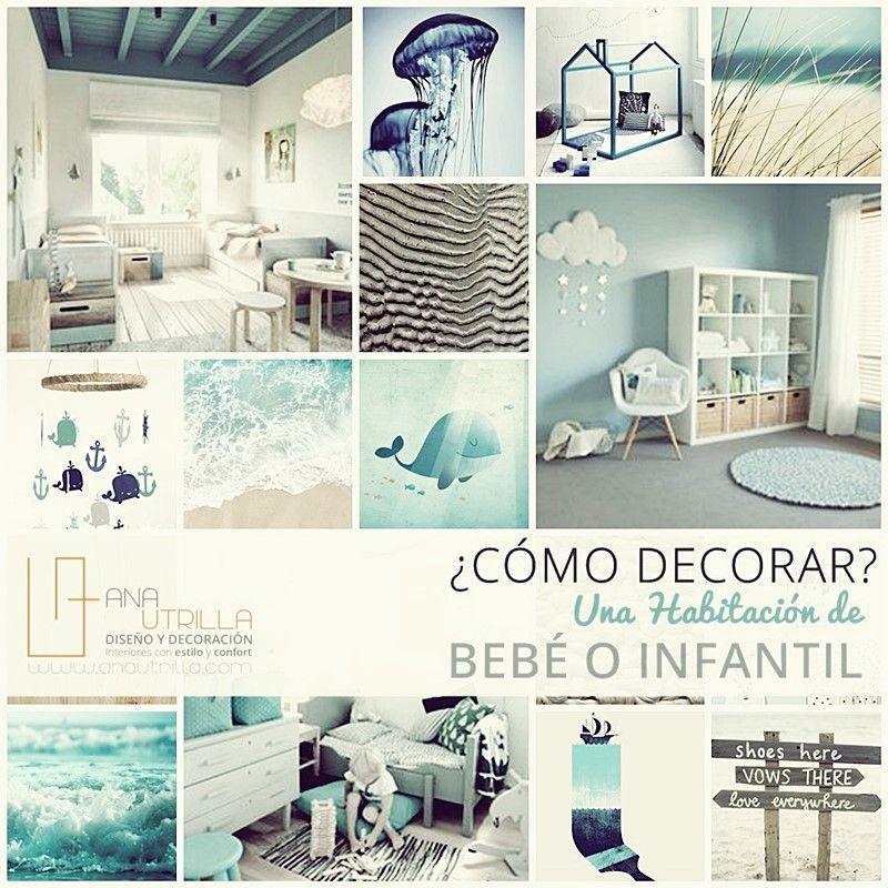 Cómo decorar una habitación de bebe por Ana Utrilla Diseño de Interiores