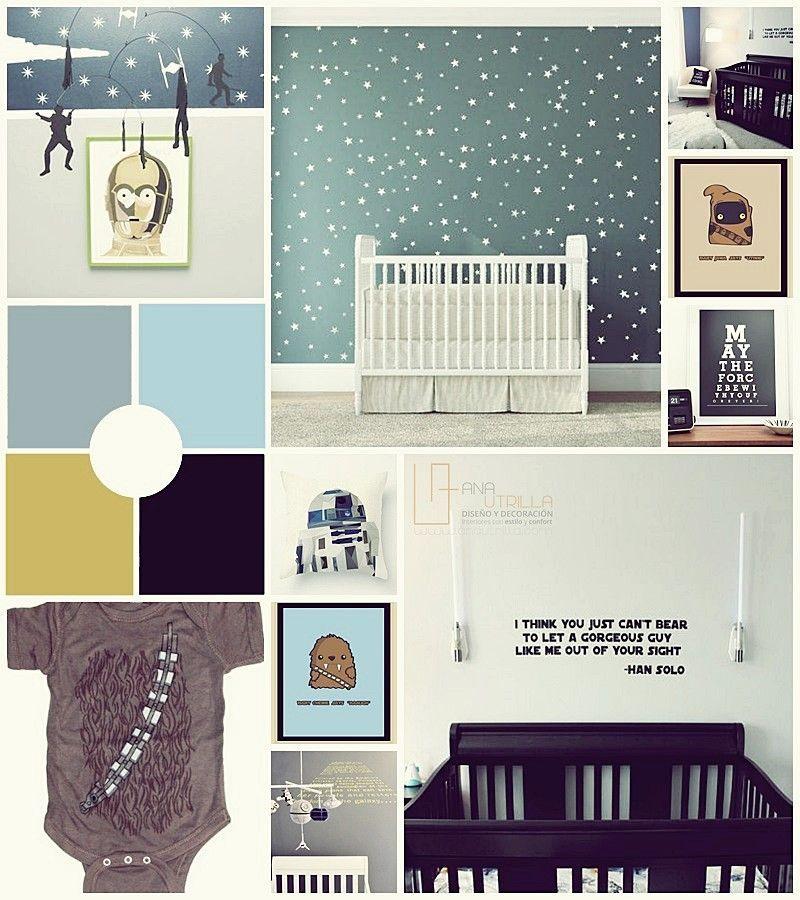 Decoración de interiores de Stars wars para habitación infantil por Ana Utrilla