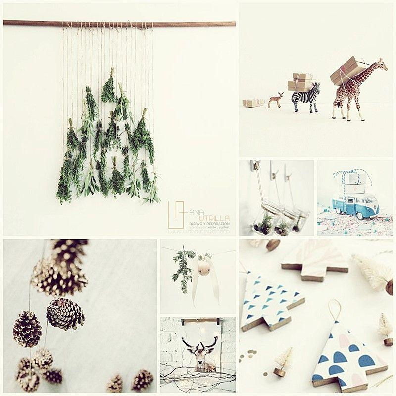 Detalles DIY para decorar interiores en navidad de estilo rústico nórdico por Ana Utrilla