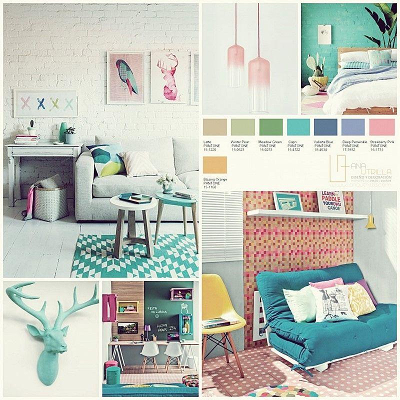 Guía de colores pantone 2016 en decoración de interiores por Ana Utrilla