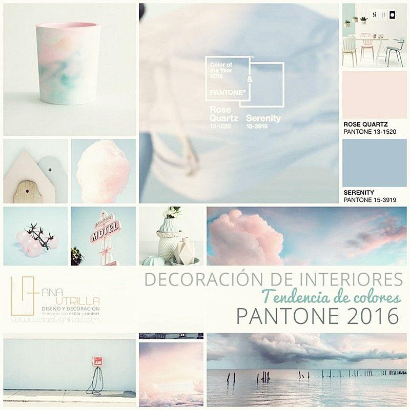 Colores PANTONE 2016 en decoración de interiores por Ana Utrilla Diseño de Interiores