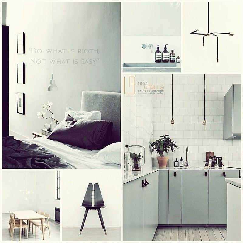 Interiorismo de hogar y contract en blanco y negro por Ana Utrilla Diseño de interiores online