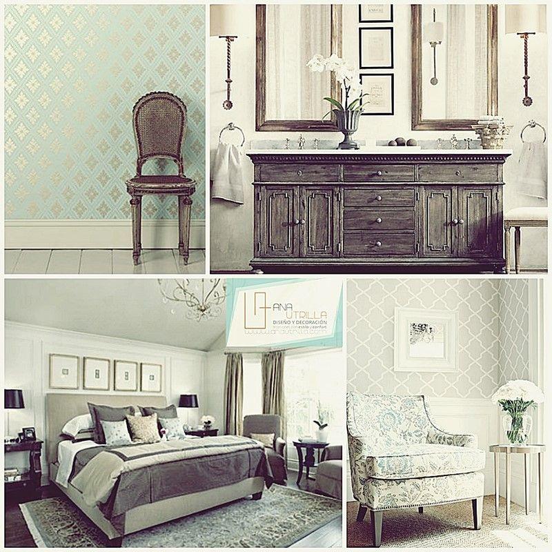Combina mobiliario clásico francés con piezas más contemporáneas por Ana Utrilla Diseño de Interiores Online