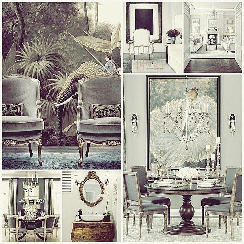 Ambientes de estilo clásico, elegantes espacios de estilo francés por Ana Utrilla Diseño de Interiores