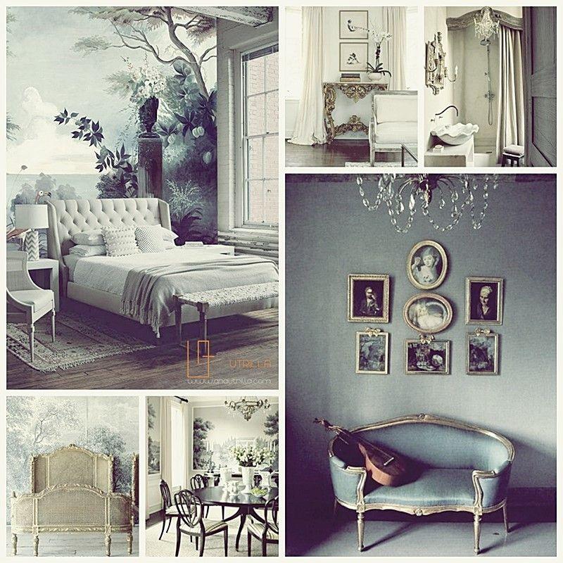 Decoración de interiores con estilo clásico, interiores de estilo francés