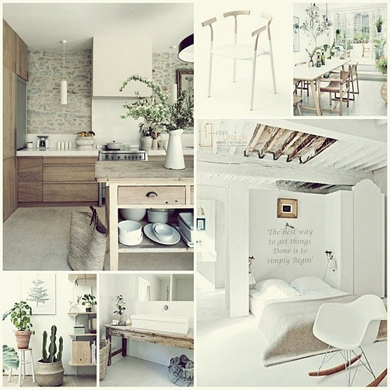 Decoración rústica nórdica en tonos tostados y claros por Ana Utrilla Diseño de Interiores Online