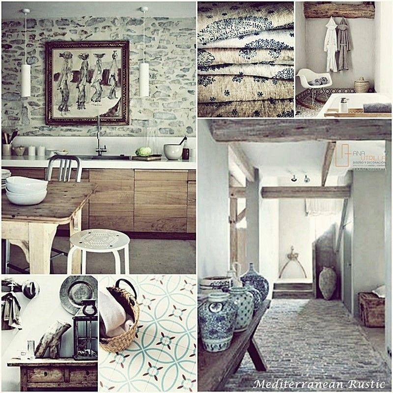 Decoración de interiores, como decorar tu espacio con estilo rústico mediterráneo