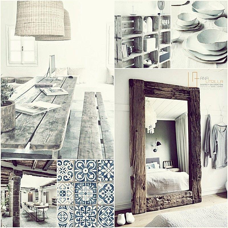 Características del estilo rústico para decorar tu espacio de hogar favorito por Ana Utrilla diseño de interiores online
