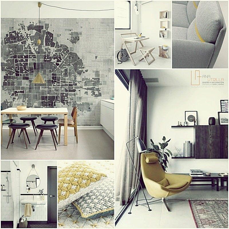 Amarillo para el color en tu decoración de casa por Ana Utrilla Diseño de Interiores online