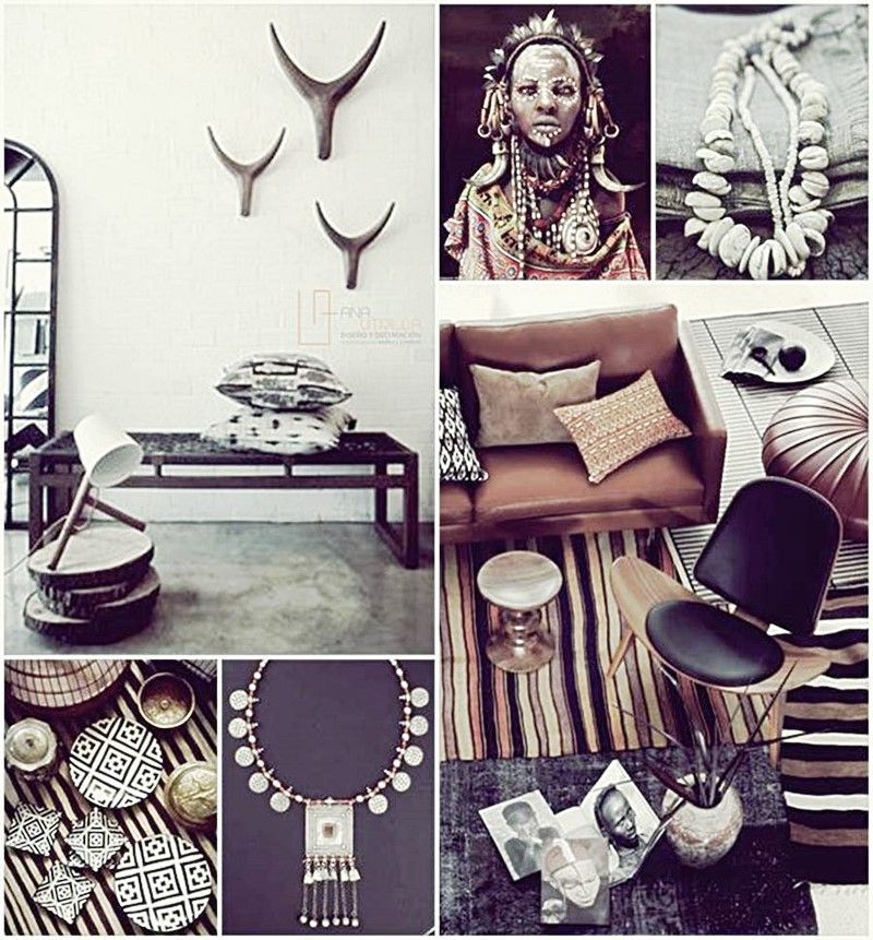 decoración para tu salón con estilo étnico por Ana Utrilla