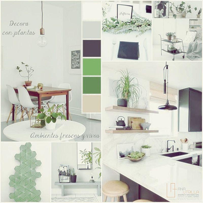 Tonos verdes junto a blancos para espacios en verano