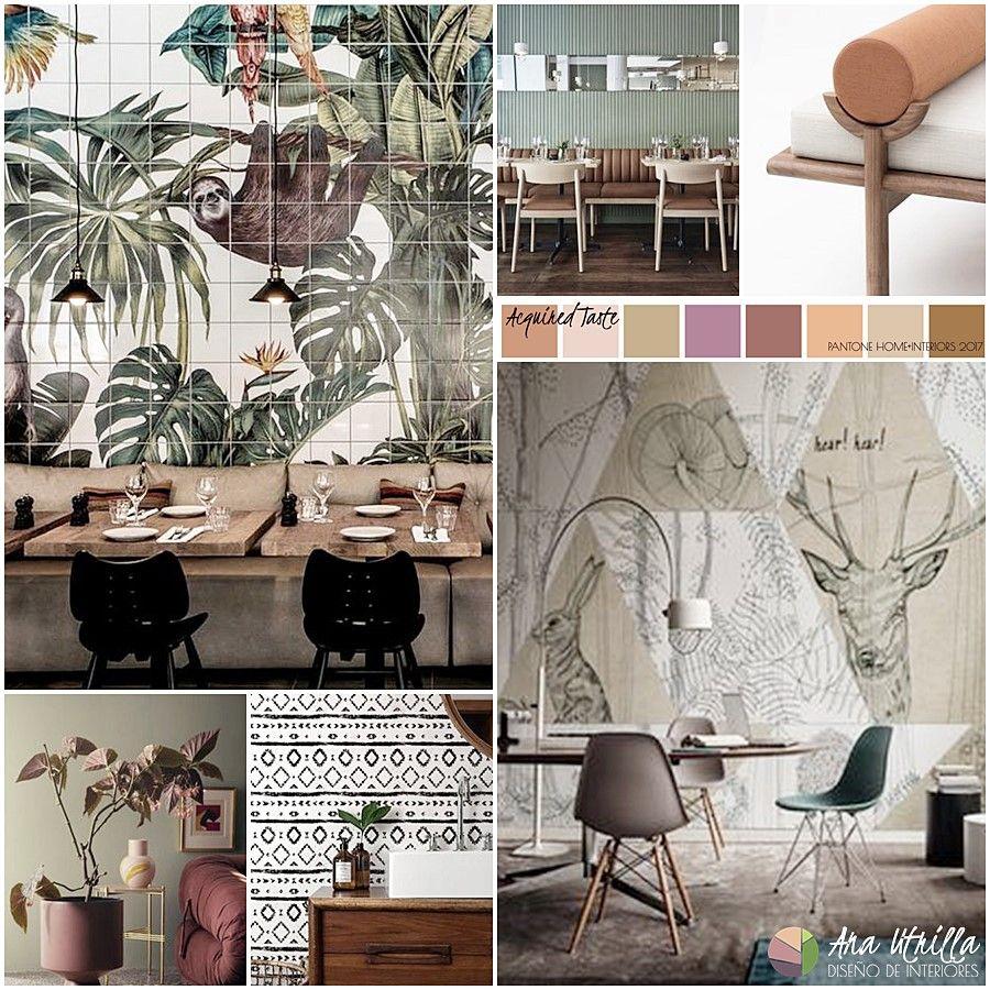 Guía colores pantone 2017 en decoración de interiores paleta acquired taste
