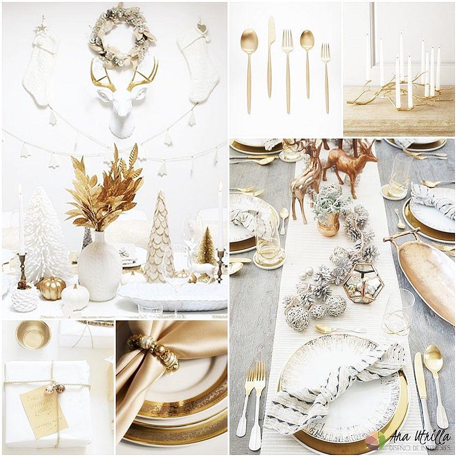 Golden Christmas tendencias navidad 2017 decoración navideña de accesorios dorados