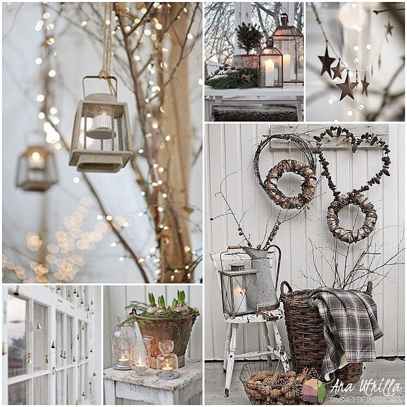 Coloca coronas navideñas, faroles y guirnaldas en tu balcón o jardin