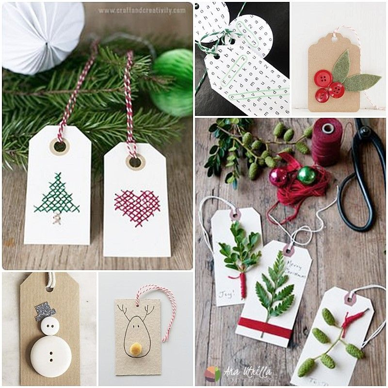 Etiquetas personalizadas diy para los regalos de navidad