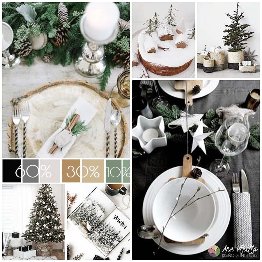 Cómo decorar con color espacios de Navidad