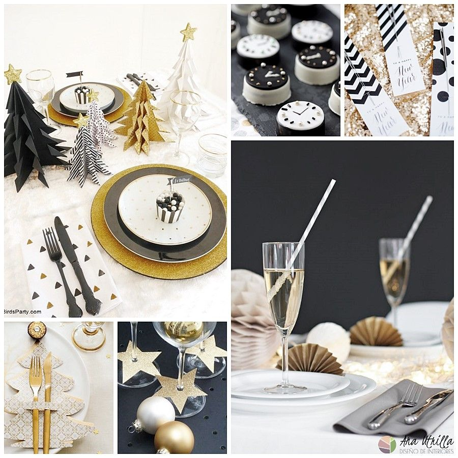 Decoración para mesas de Nochevieja, ideas e inspiración