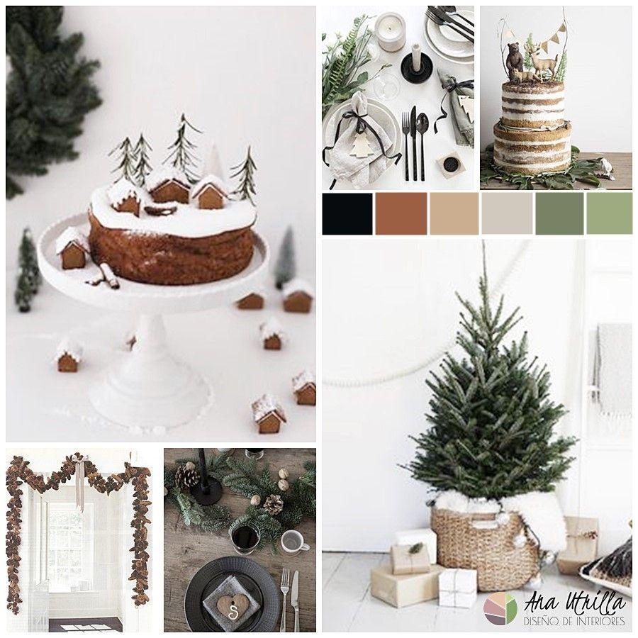 Ideas e inspiración para una decoración de Navidad de tonos naturales