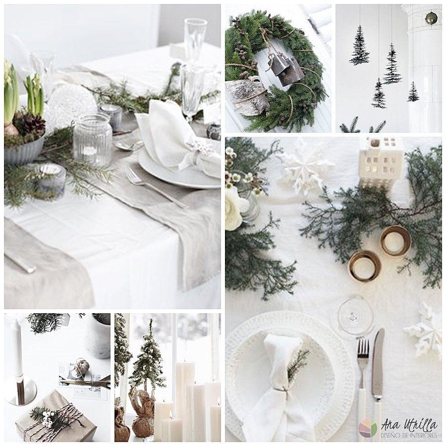 Inspiración para tu decoración de Navidad de estilo nórdico y colores nature