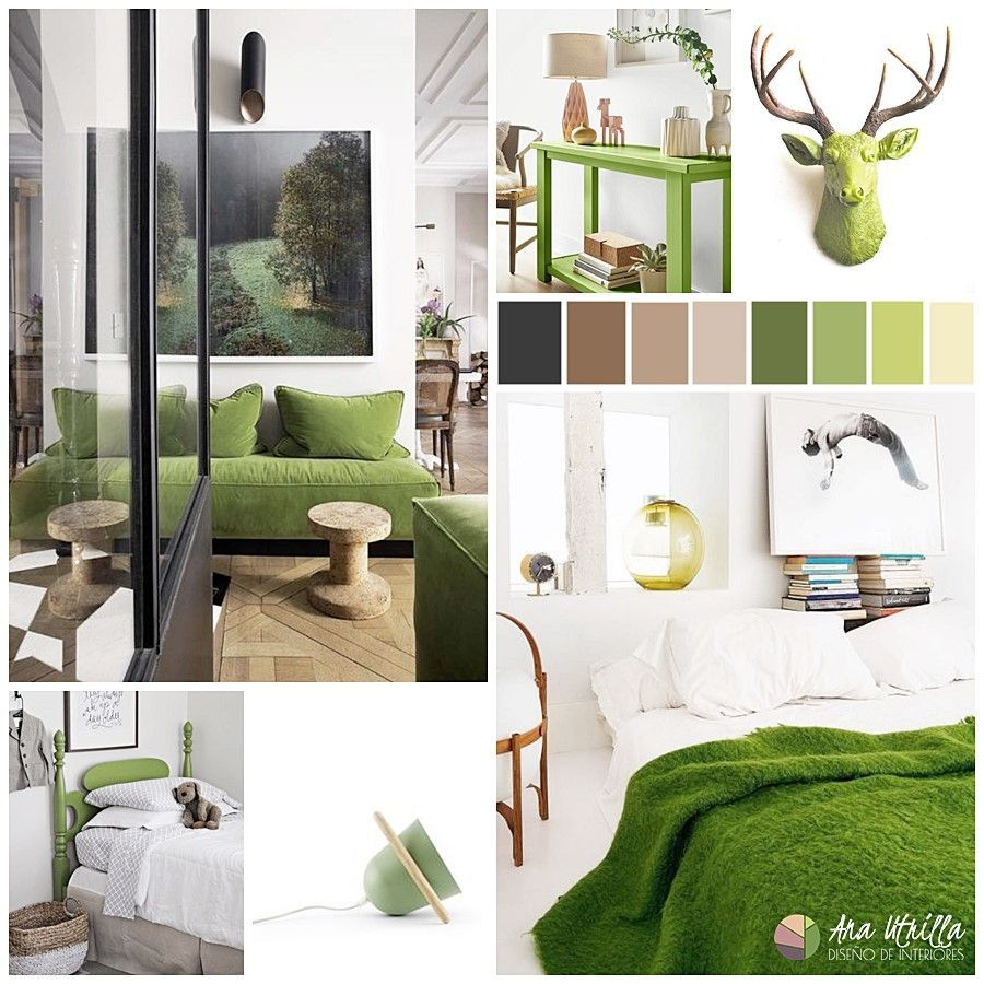 Espacios decorados con greenery como salones, cocinas o baños