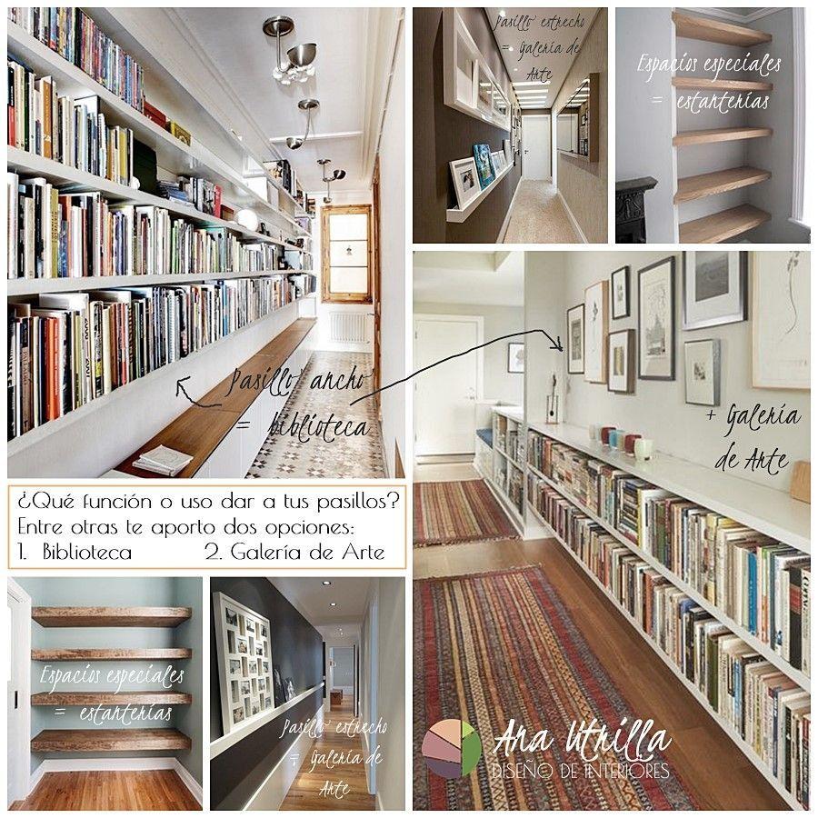 Aprovecha el pasillo de tu casa para crear una biblioteca o galería de arte