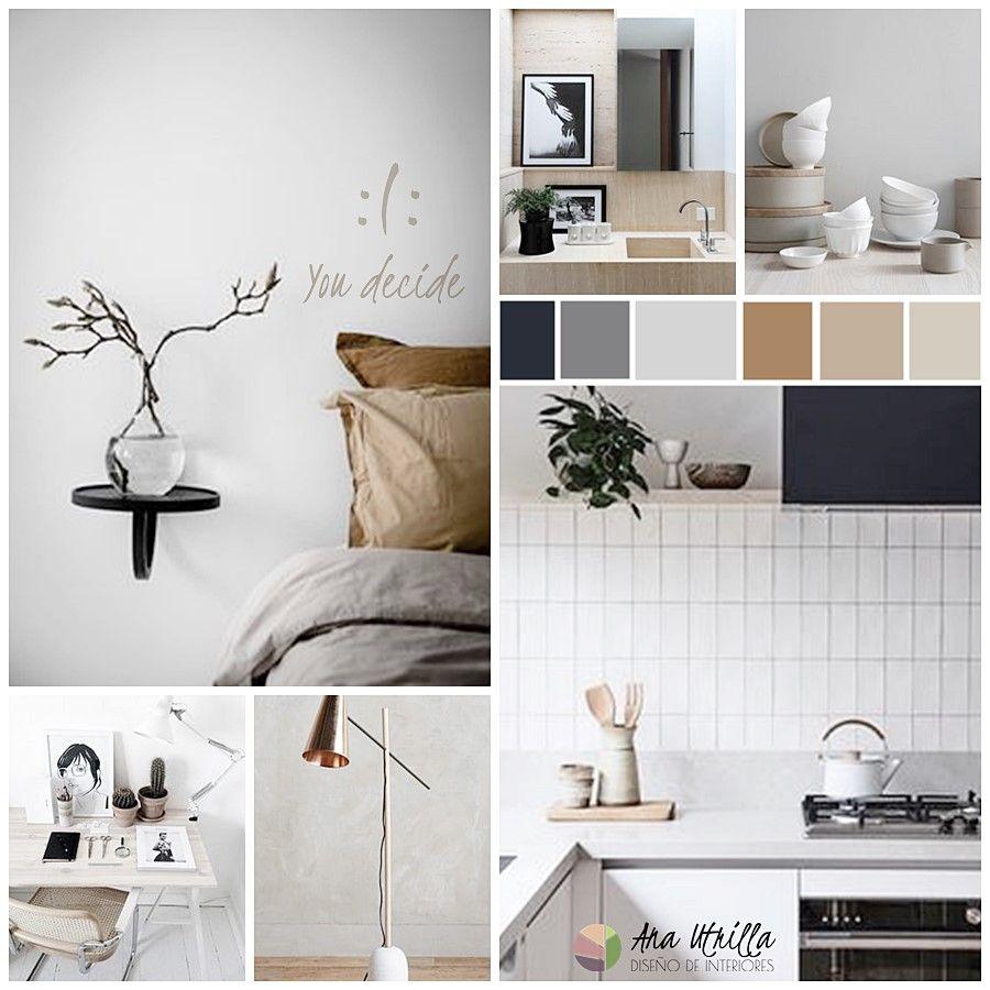 Moodboard ideas para un interiorismo de texturas suaves y atmósfera calmada por Ana Utrilla